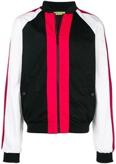 Versace colour block bomber jacket