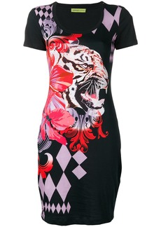 Versace colour-block fitted dress