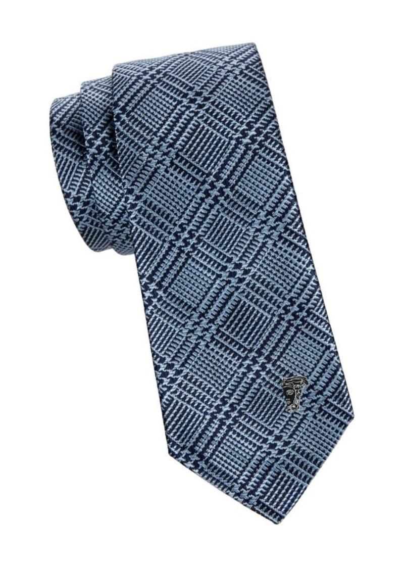 Versace Combo Stripe Silk Tie