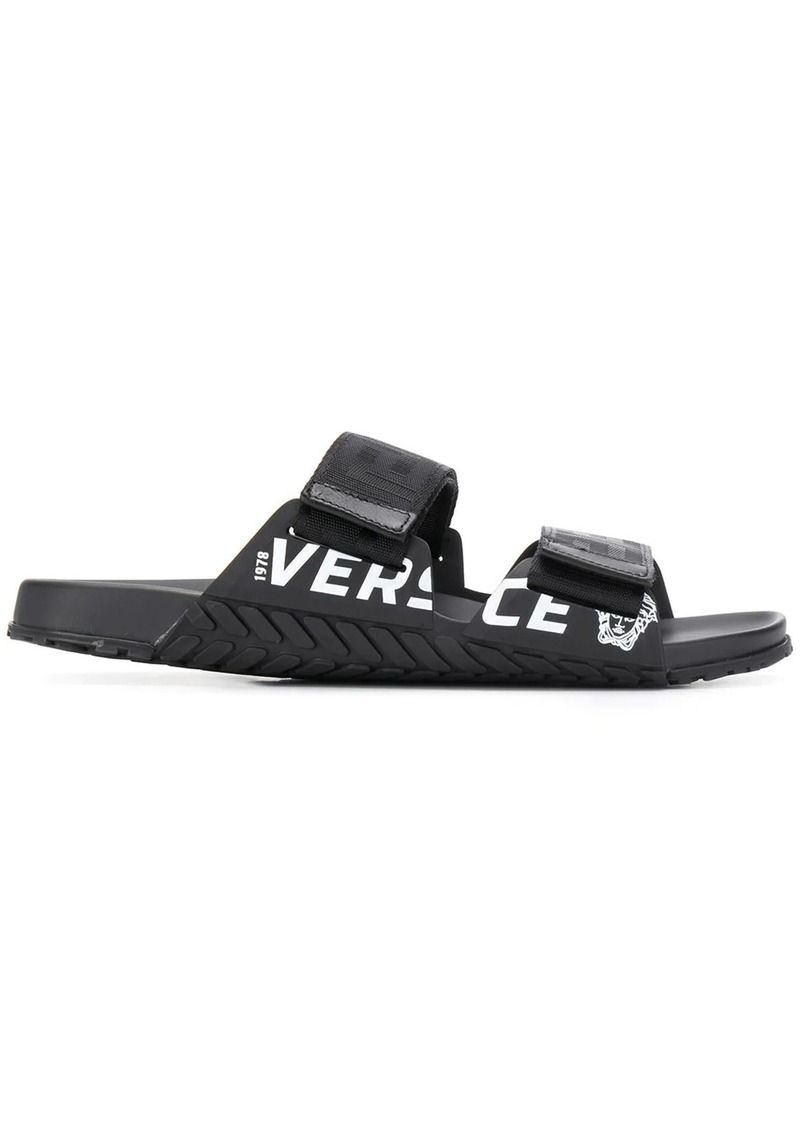 Versace contrast logo sandals