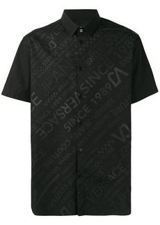 Versace contrast logo shirt