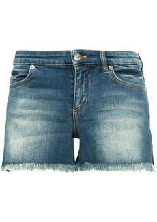Versace contrast pocket denim shorts