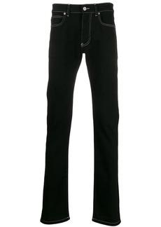 Versace contrast stitch straight jeans