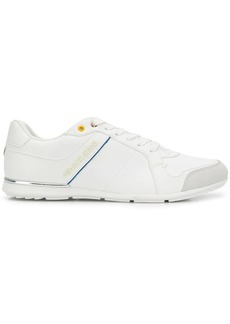 Versace contrast trim lace-up sneakers