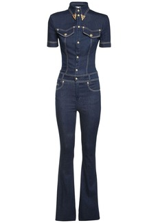 Versace Cotton Blend Denim Jumpsuit