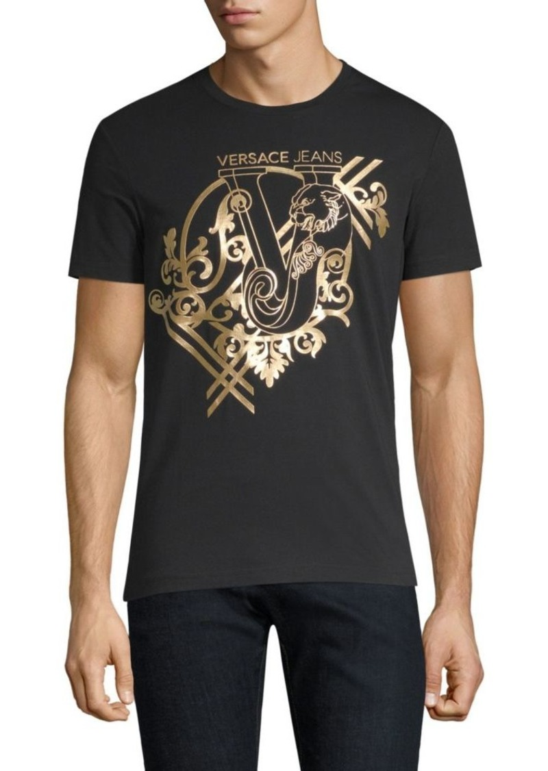 Cotton Blend Gold Foil T Shirt