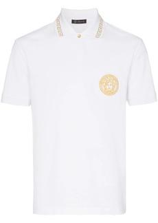 Versace cotton gold Medusa polo shirt