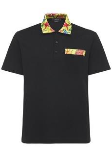 Versace Cotton Jersey Piquet S.s. Polo Shirt