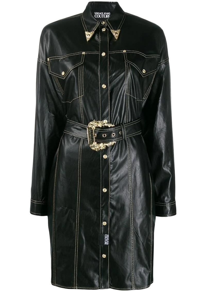 Versace cowboy shirt dress
