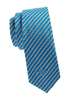 Versace Cravatte Embroidered Silk Tie
