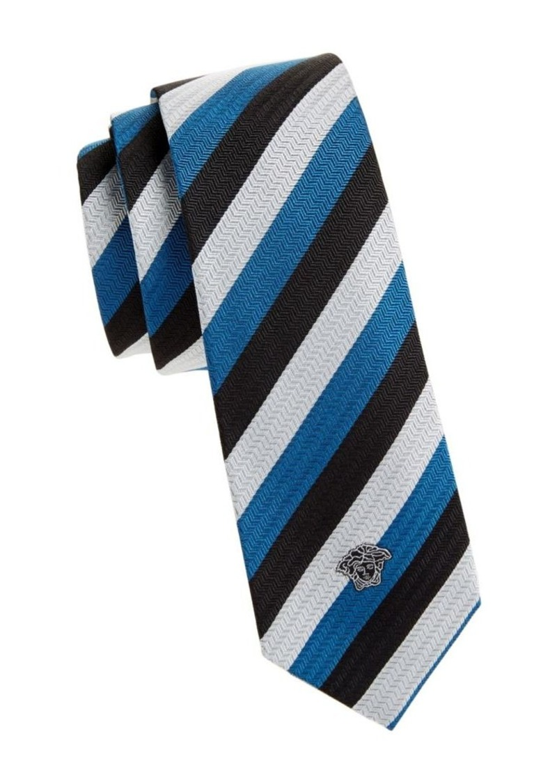 Versace Cravette Embroidered Tie