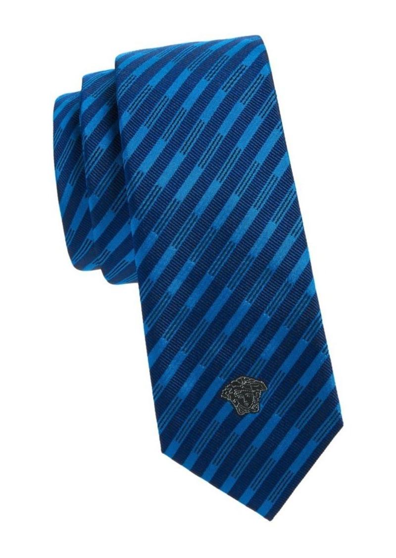 Versace Cravette Striped Tie