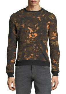 Versace Crewneck Camo Lion-Print Sweatshirt