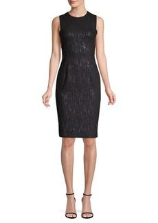 Versace Crewneck Sheath Dress