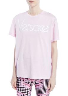 Versace Crewneck Short-Sleeve T-Shirt w/ Logo