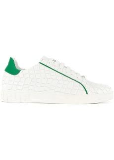 Versace croco-embossed sneakers