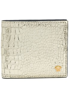 Versace croco-embossed wallet