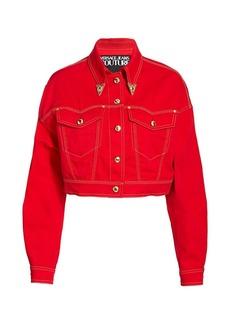 Versace Crop Denim Jacket