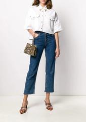 Versace crop denim shirt