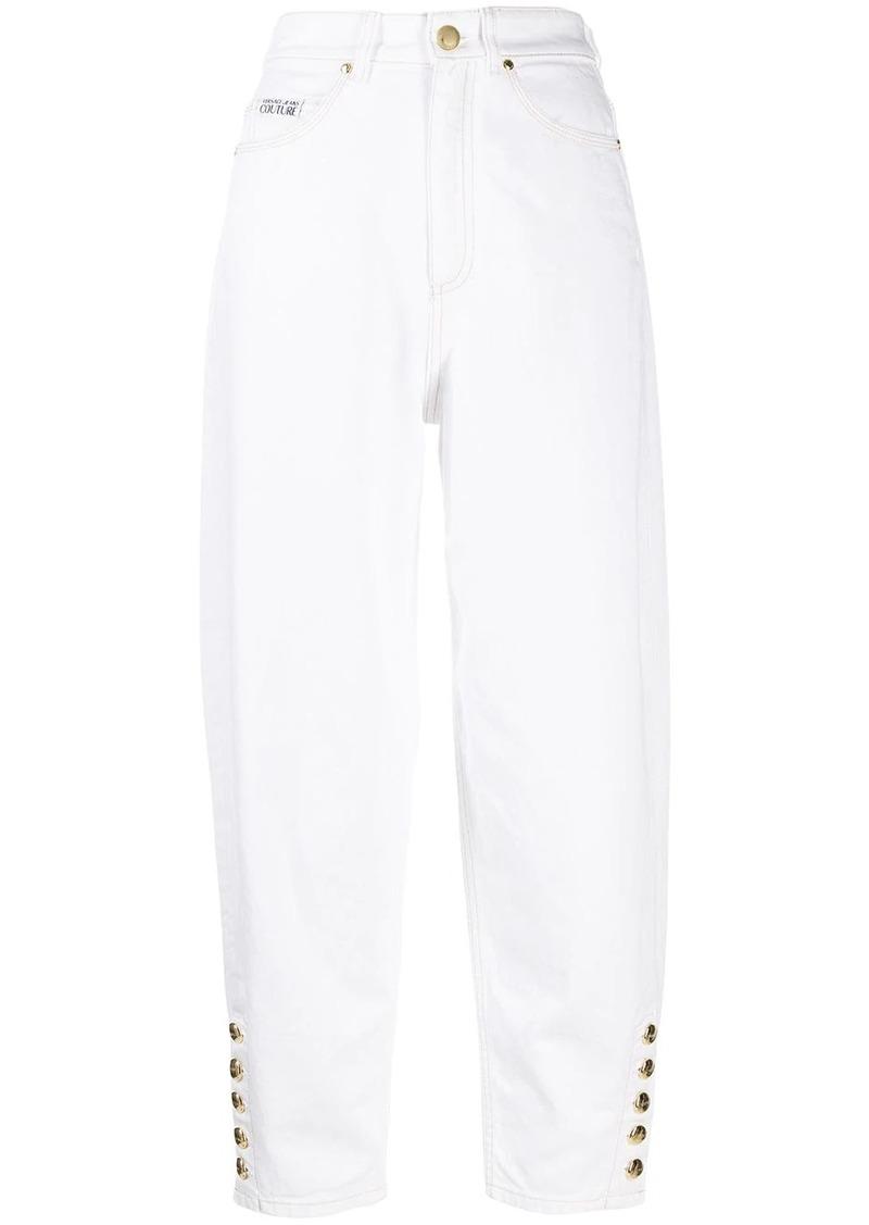 Versace cropped boyfriend jeans