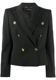 Versace cropped double-breasted blazer