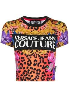 Versace cropped logo T-shirt