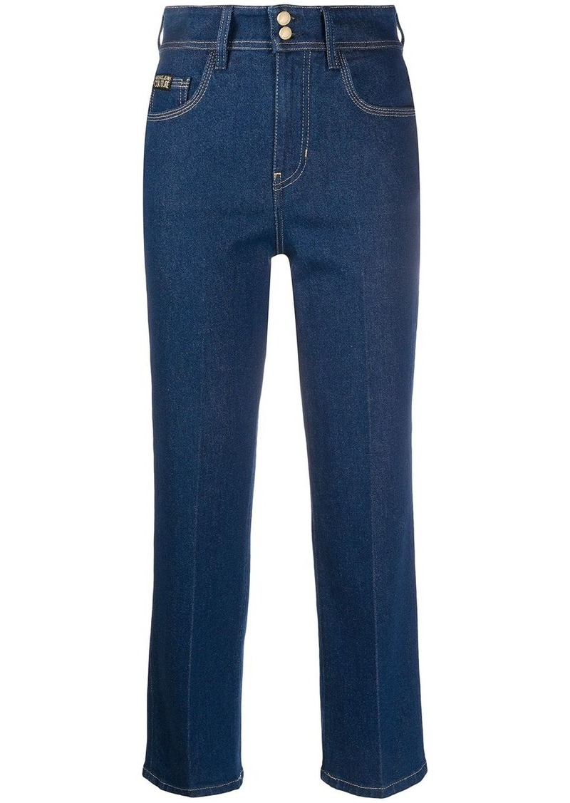 Versace cropped straight-leg jeans