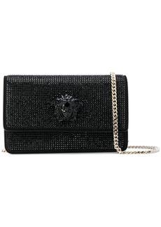 Versace crystal-embellished Medusa Palazzo shoulder bag