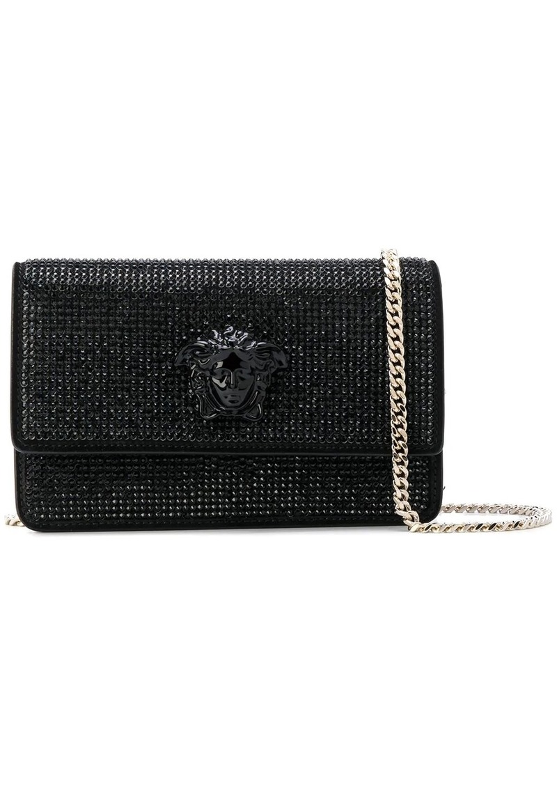 Versace crystal-embellished Medusa Palazzo shoulder bag