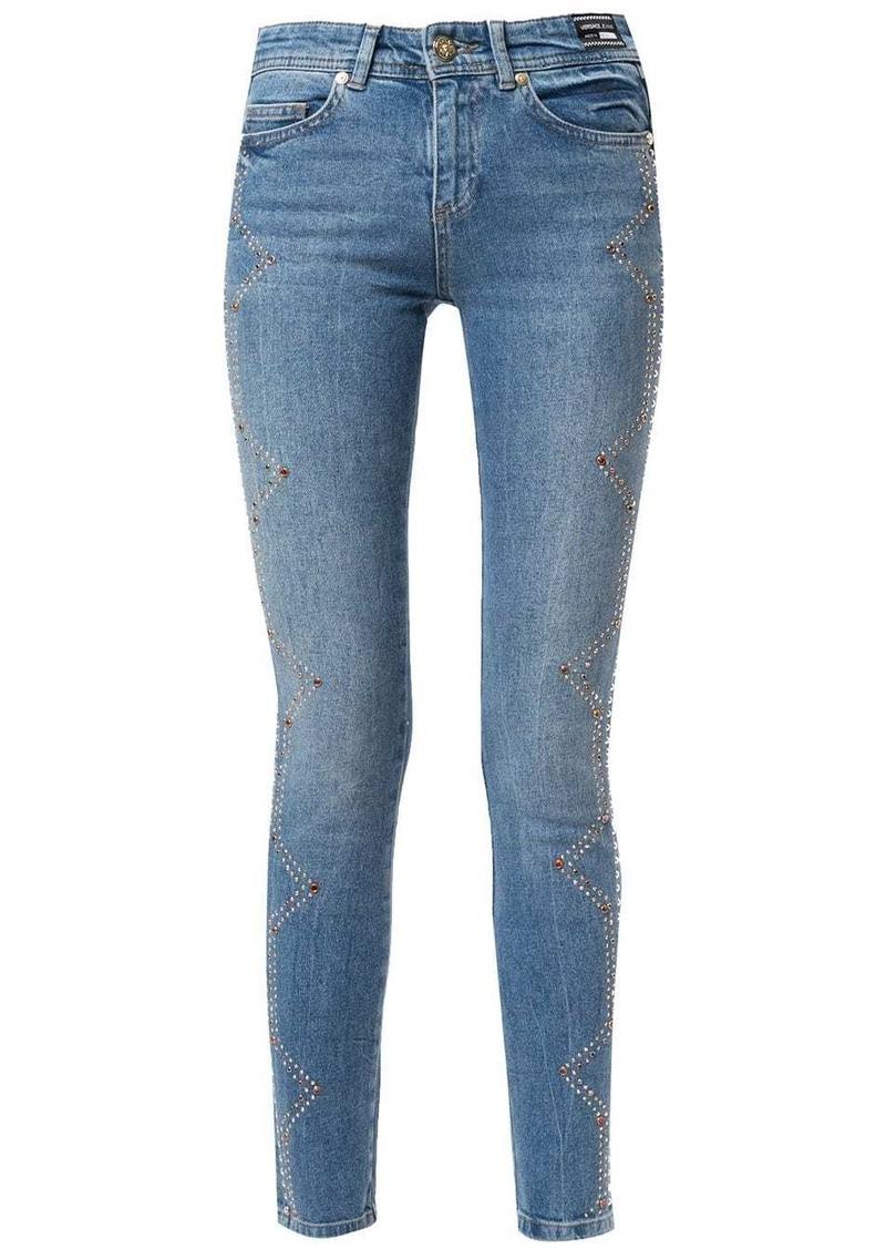 Versace crystal-embellished skinny jeans
