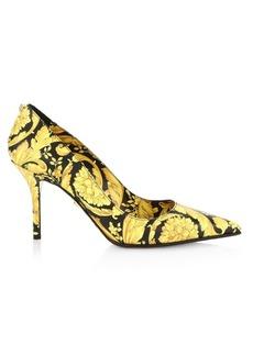 Versace Decollate Barocco Stiletto Pumps