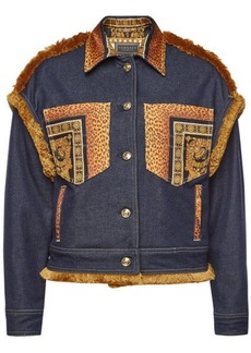 Versace Denim Jacket with Fringe
