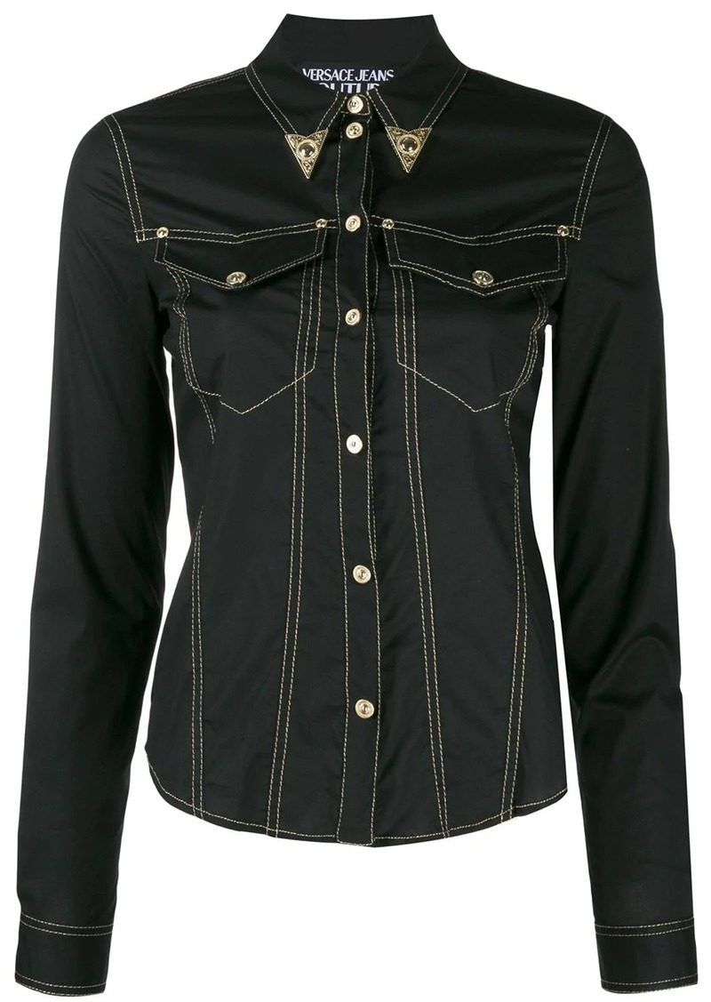 Versace denim western shirt