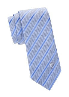 Versace Diagonal Stripe & Dot Silk Tie