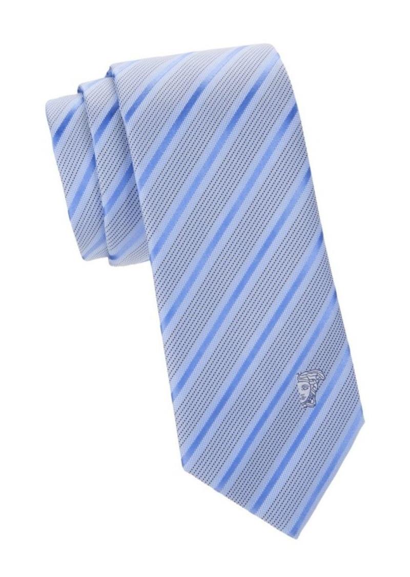 Versace Diagonal Stripe & Dot Silk Tie