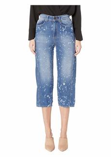 Versace Distressed  Boyfriend Jeans in Indigo