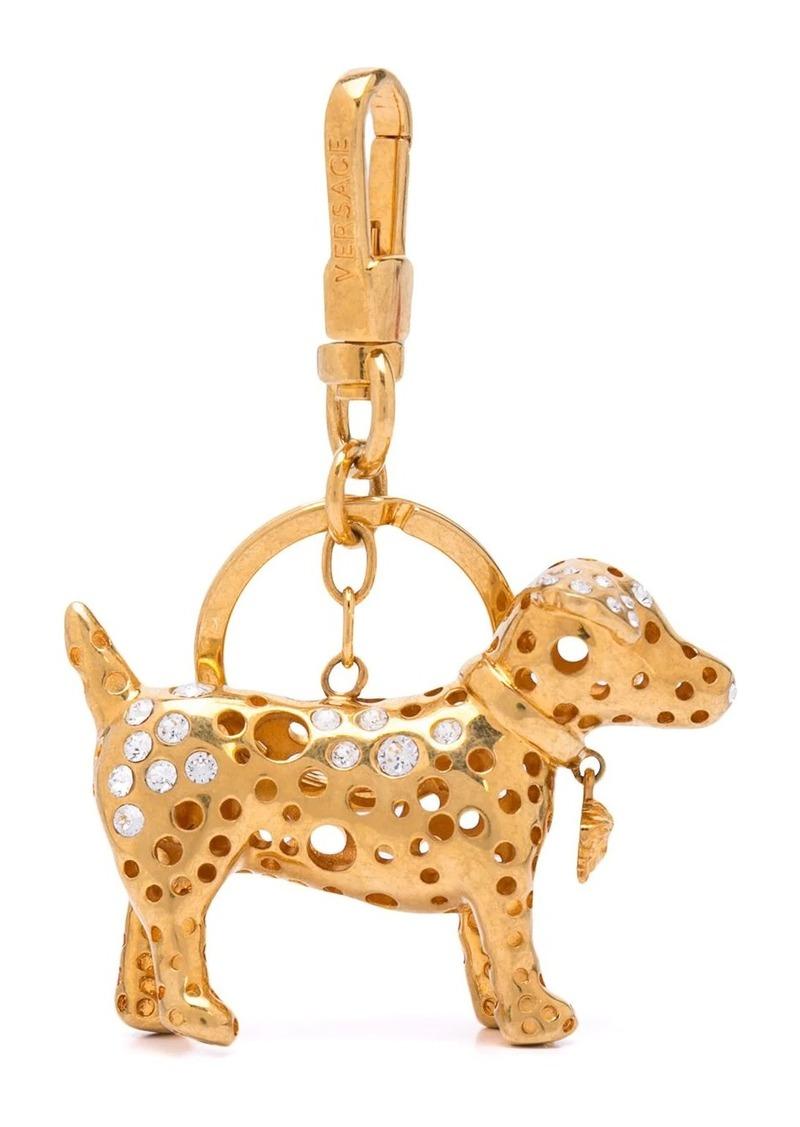 Versace dog-shaped keyring