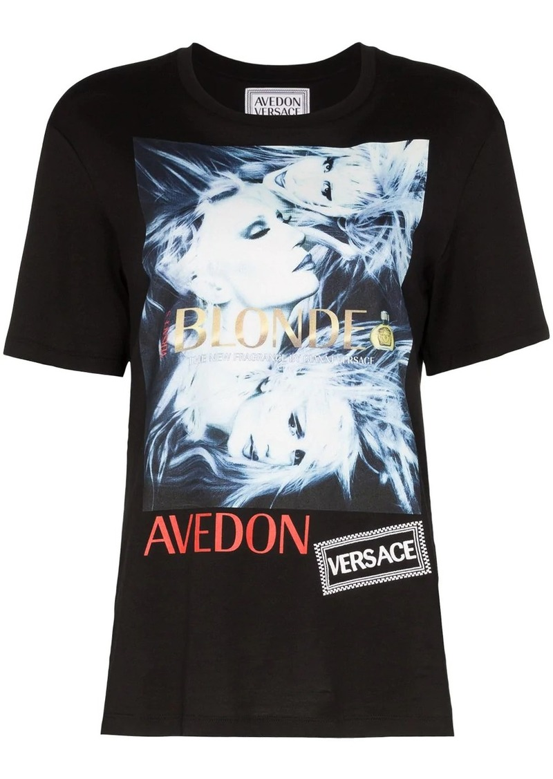 Versace Donatella graphic print T-shirt