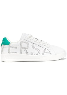 Versace dotted logo print low-top sneakers