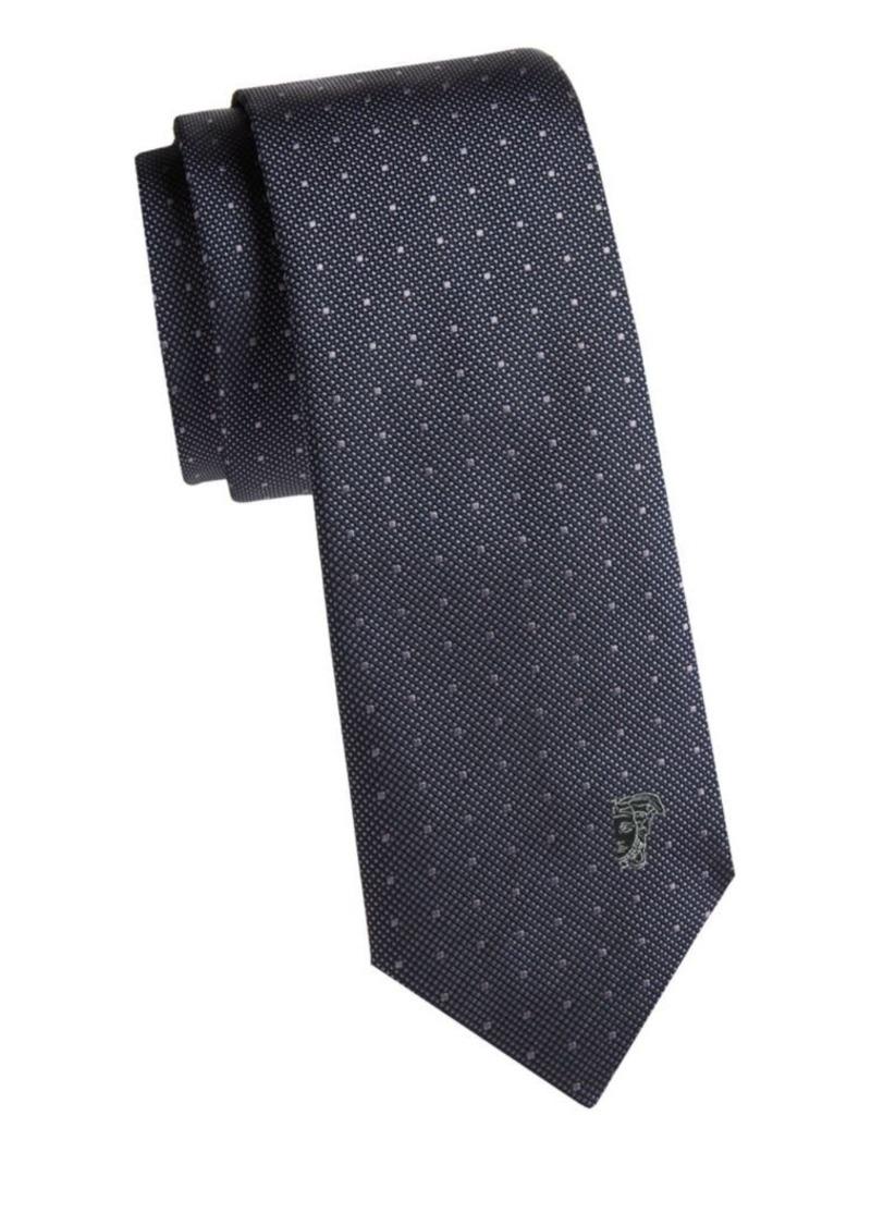 Versace Dotted Silk Tie