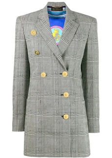 Versace double-breasted check blazer