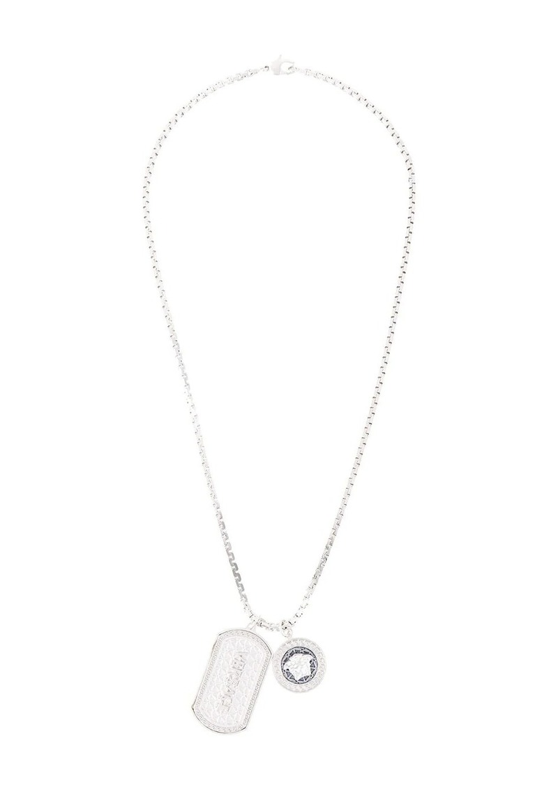Versace double dog tag necklace