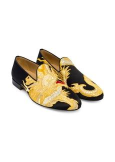 Versace Dragon Jacquard Smoking Slippers