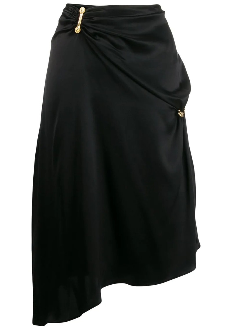 Versace draped asymmetric skirt