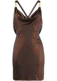 Versace draped front mini dress
