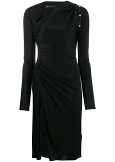 Versace draped midi dress