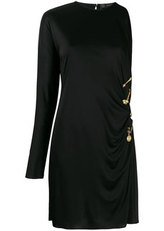 Versace draped safety pin dress