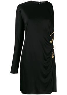 Versace draped safety pin dress