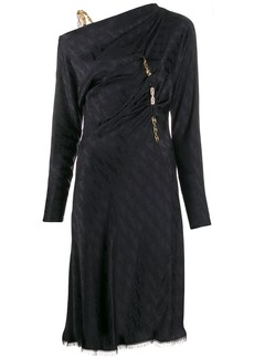 Versace draped satin midi dress