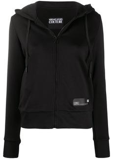 Versace drawstring zipped hoodie